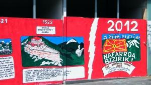 Capturar pintadas para mostrar la expresión de la ciudadanía respecto del conflicto vasco.