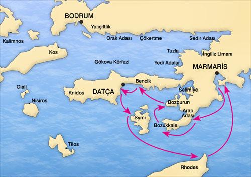 Recorridos en el mar Egeo.