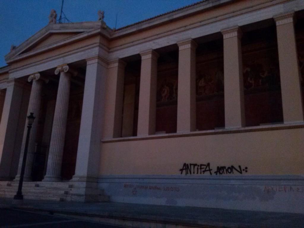 lucha antifascista en Atenas