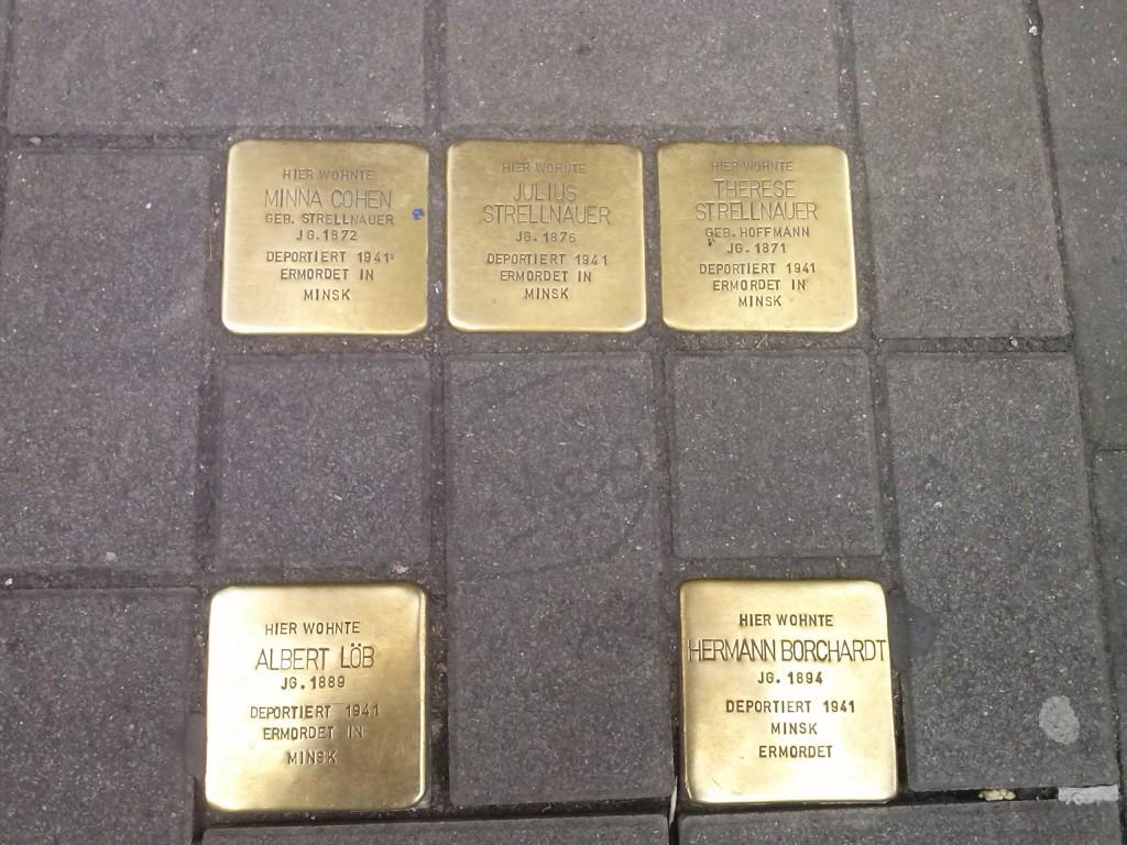 placas de deportados en Hamburgo