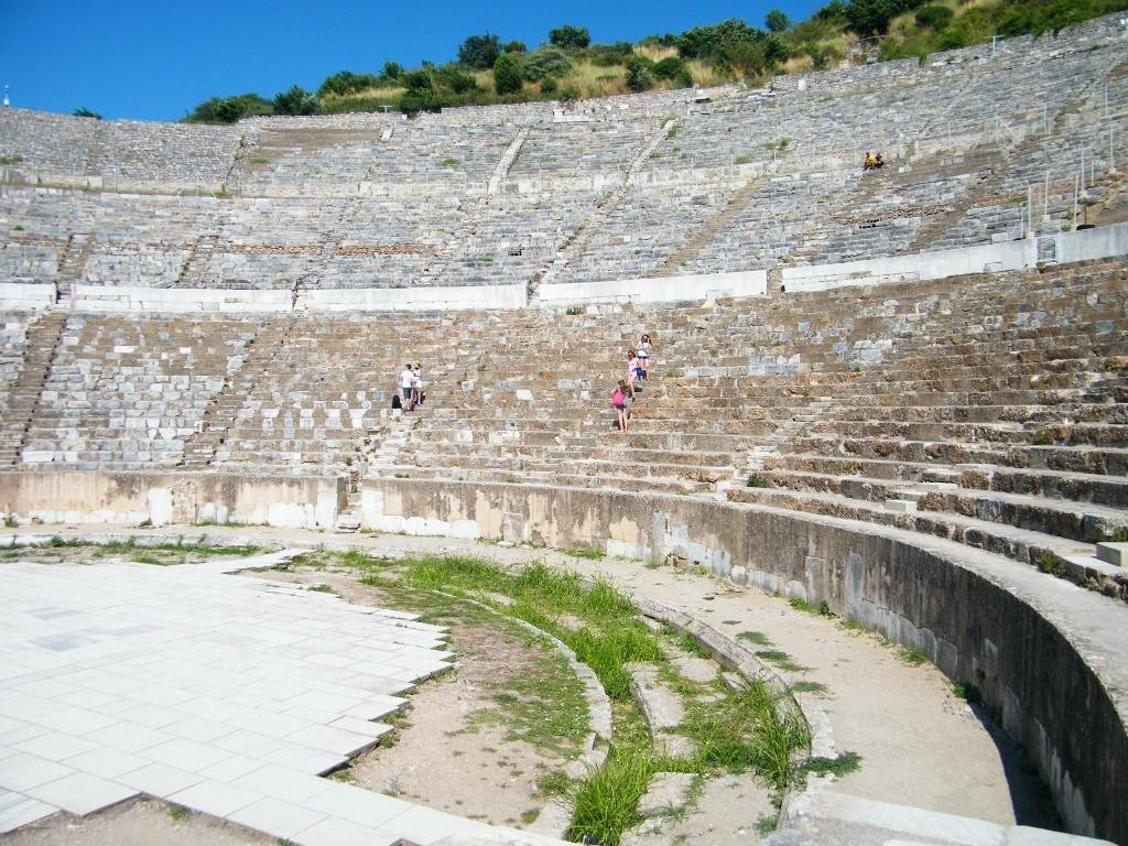 En el interior del teatro de Ephesus