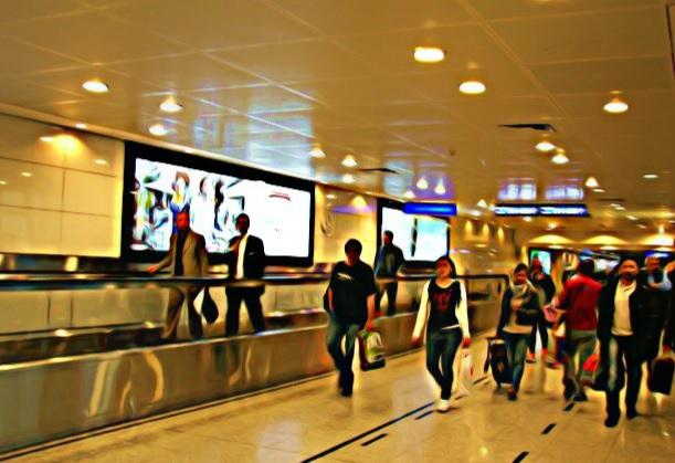 Aeropuerto Atatürk para saludos y despedidas