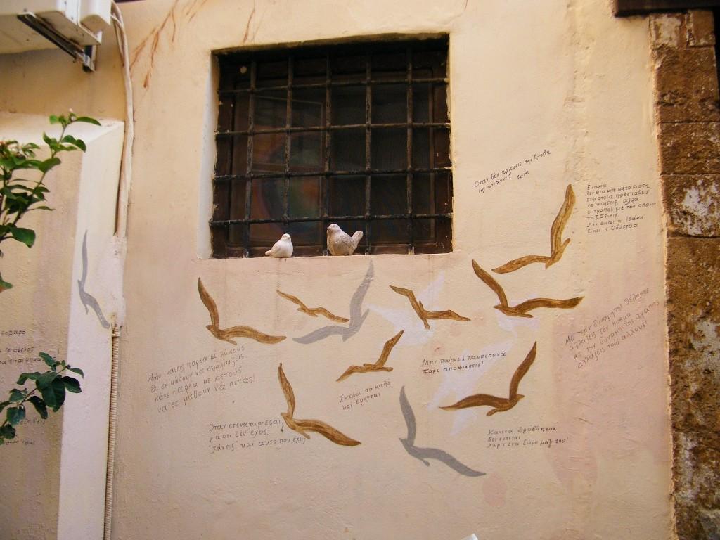 Pintadas en las calles de Creta.