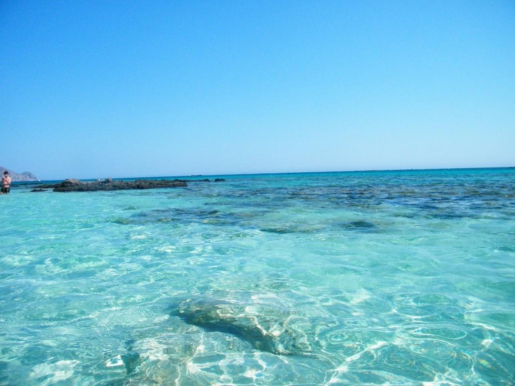 claridad del agua en Elafonisi
