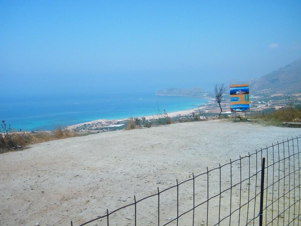 la cómoda playa de Falasarna en Creta
