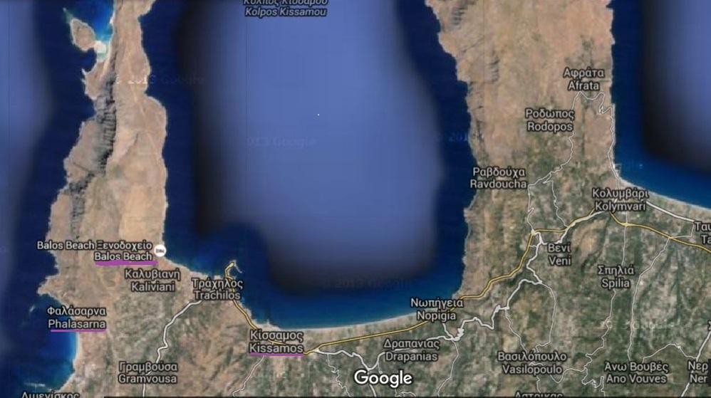 Playas de Balos y Falasarna se sitúan al noroeste de Creta.