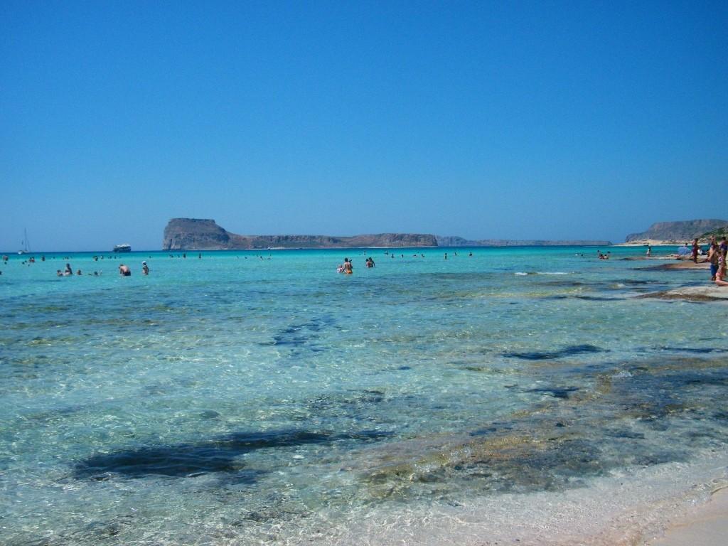 caribe griego es la playa de Gramvousa en Creta
