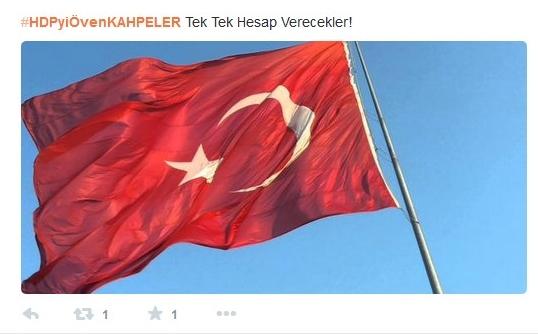 banderas turcas en fotos de perfiles en un ambiente de guerra civil