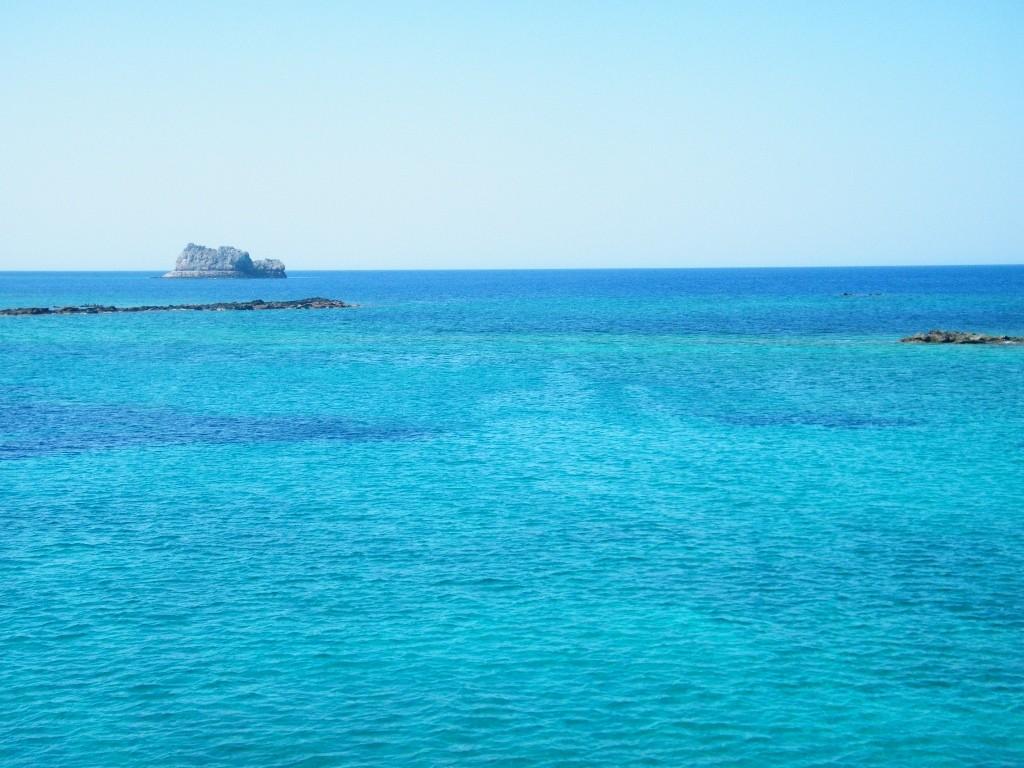 en barco hacia Balos en Creta