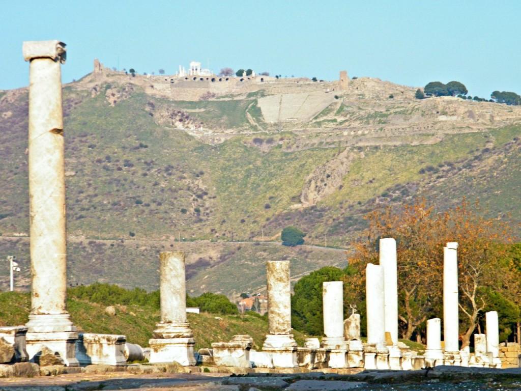 complejos de ruinas en Bergama Turquía