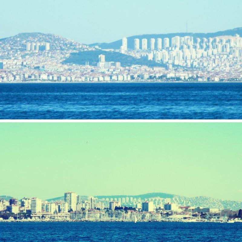 desde Kadiköy a las islas Príncipe se ve toda la magnitud de Estambul