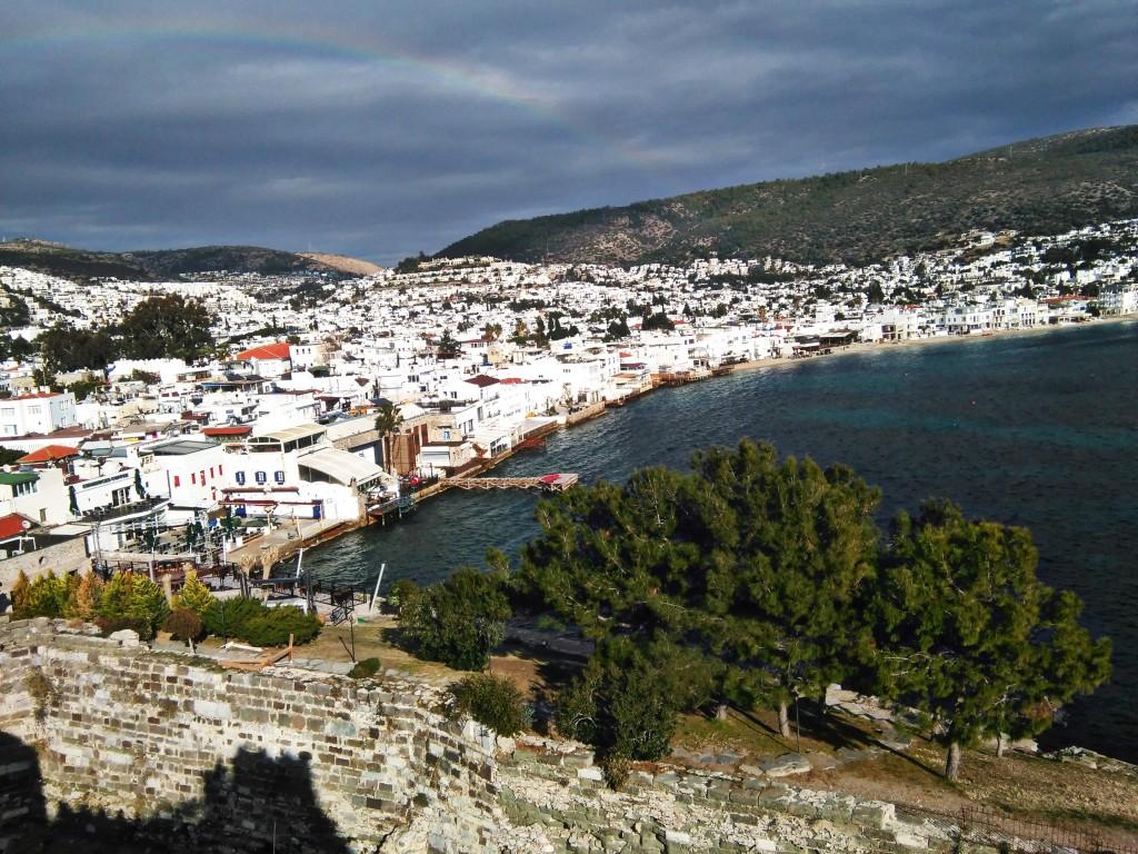 vista de Bodrum desde el castillo