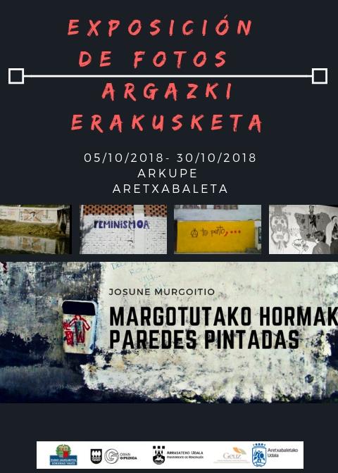 Margotutako Hormak-paredes pintadas en Aretxabaleta