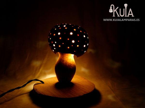 lámpara de calabaza turca adaptada a la artesanía del país vasco